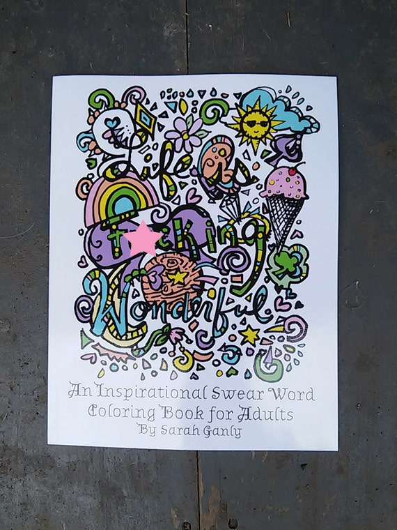 Swear Word Coloring Book Inspirational Physical Hard Copy Etsy