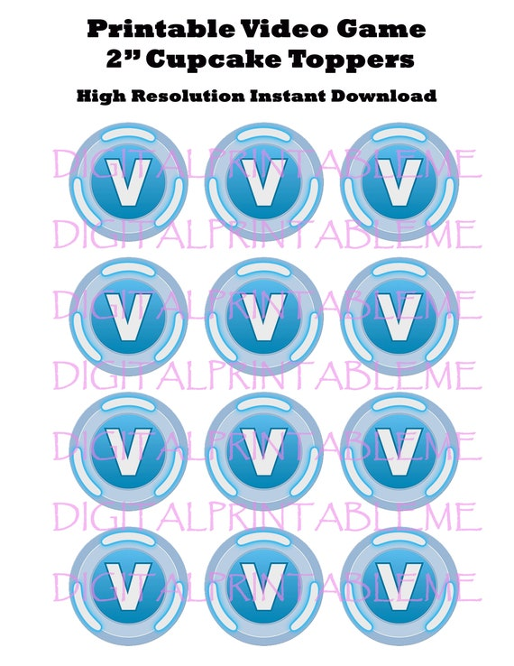 photo regarding Coins Printable called Printable Cupcake Toppers, Video clip Recreation Social gathering, Cash, Sport Loot, Pinata, Coin, Birthday, Decorations, Immediate Obtain Blue