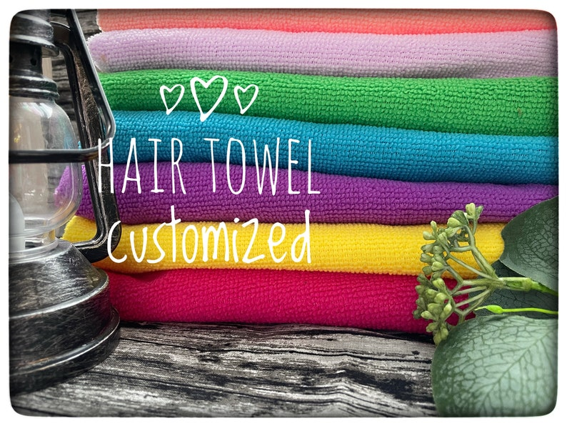 Hair Towel Embroidered with a Name or Initials image 0