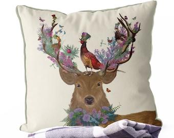Stag pillow fall pillows fall home decor Sofa Pillow deer cushion anniversary gift woodland decor woodland pillow Stag gifts Deer Hunter
