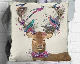 Deer Pillow stag pillow stag cushion accent pillow decorative pillow Animal pillow Home decor farmhouse decor deer decor cabin items