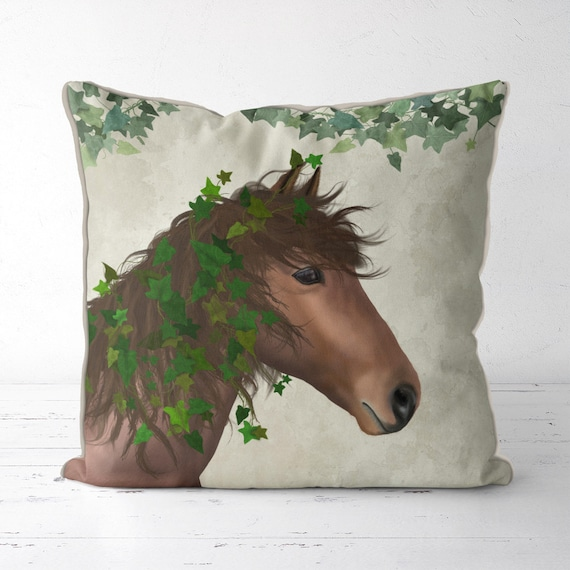 Horse pillow cover Porcelain Horse