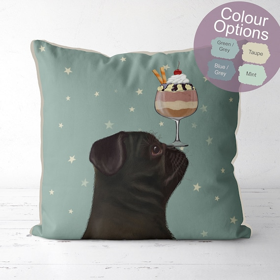 Pug pillow case | Etsy