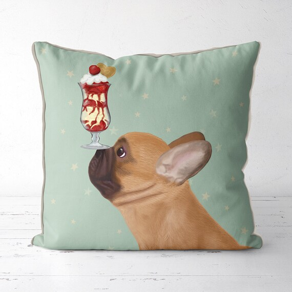 Silkscreen French Bulldog Pillow | Etsy