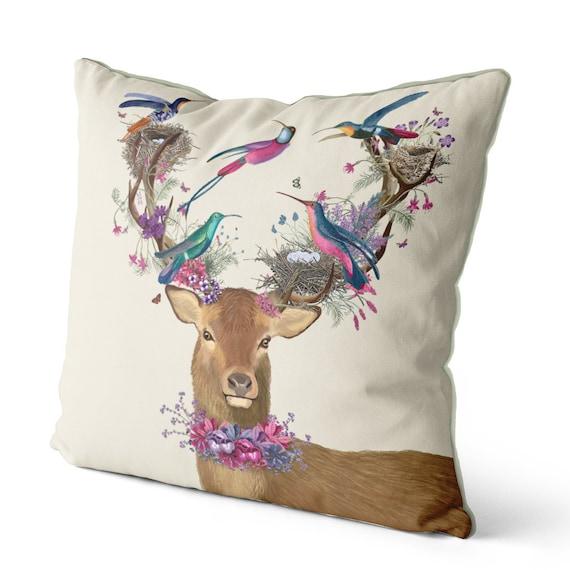Deer pillow Stag cushions deer decor