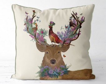 Housewarming gift Scottish Wedding gift Deer Pillow stag pillow stag cushion decorative pillow Couch pillow Deer Stalking Deer hunting