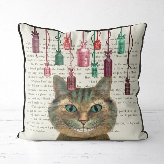 Alice wonderland Mad Hatter long housses de coussin oreiller cas home decor ou intérieure