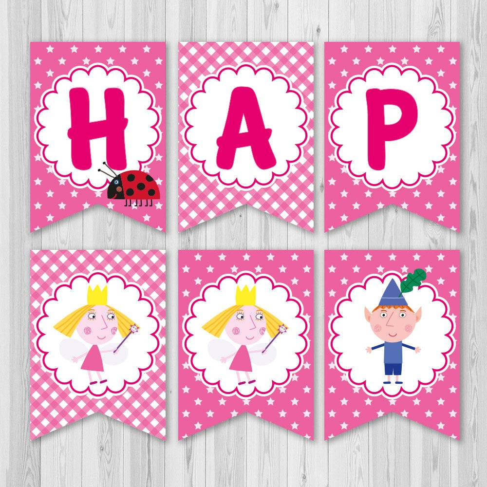 Ben and Holly\'s Little Kingdom banner Ben and Holly | Etsy