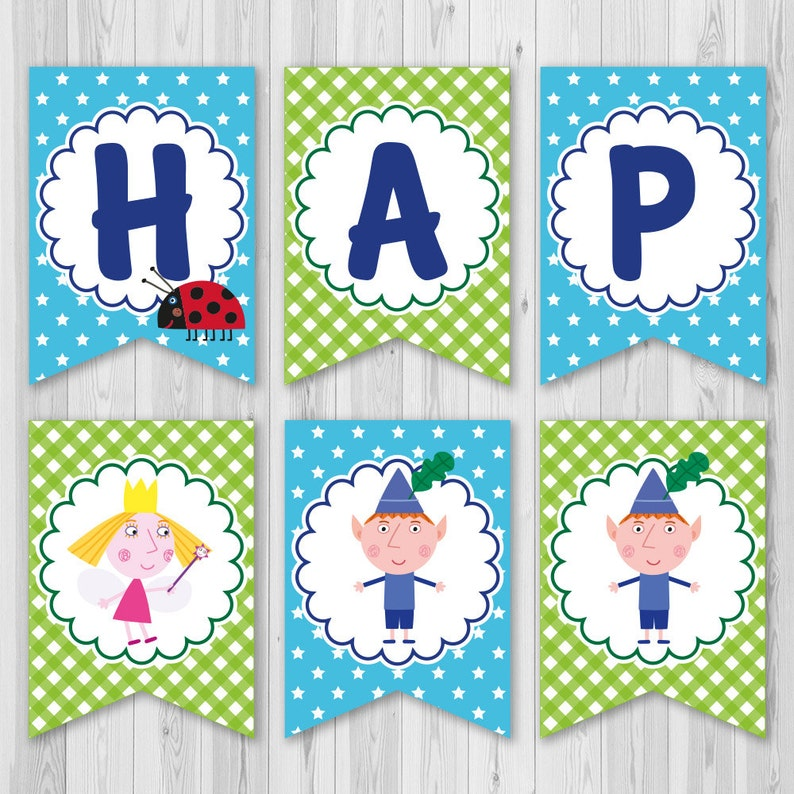 Ben And Holly S Little Kingdom Banner Ben And Holly Etsy
