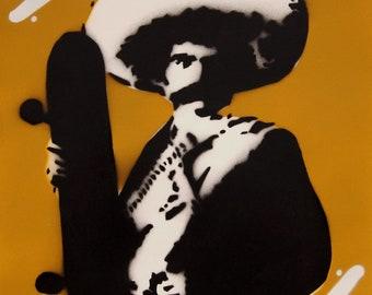 Mexican Skater Stencil art