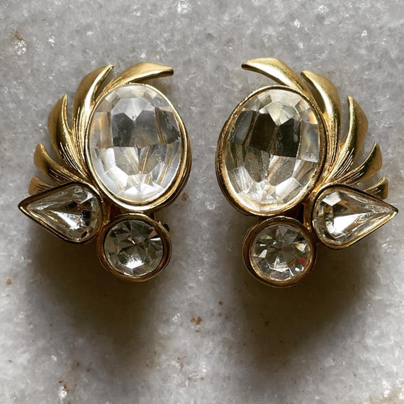 Vintage 1980s GIVENCHY clip on earrings