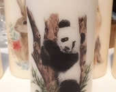 Panda Decorative Uncented Pillar Candle X 1