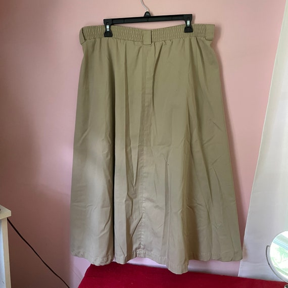 Vintage button down a line skirt size 14 with poc… - image 3
