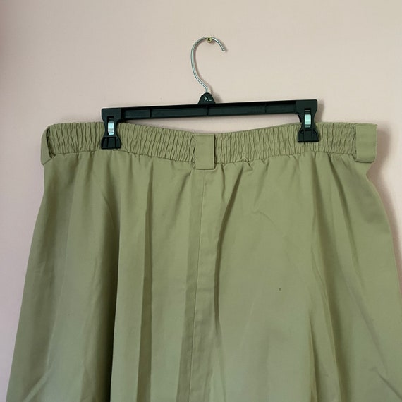Vintage button down a line skirt size 14 with poc… - image 2
