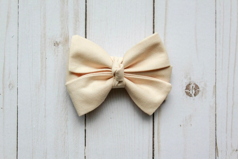 Vanilla Bow Pinwheel Bow Boutique Bow Neutral Bow Lucy Wynn Co Girls Bow Ivory Bow Summer Bow Knotted Bow Baby Headband Bow