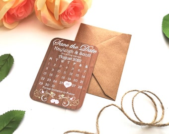 Rustic wedding save the dates | Magnet Save the Date | Shabby. Chic save the date | save the evening