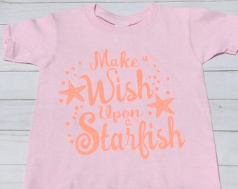a2c77ae9c7e Starfish  Toddler Girl T shirt Beach T-shirt little girl gift Vacation  Shirt Little Girl Present Gift for girl Trip to Beach