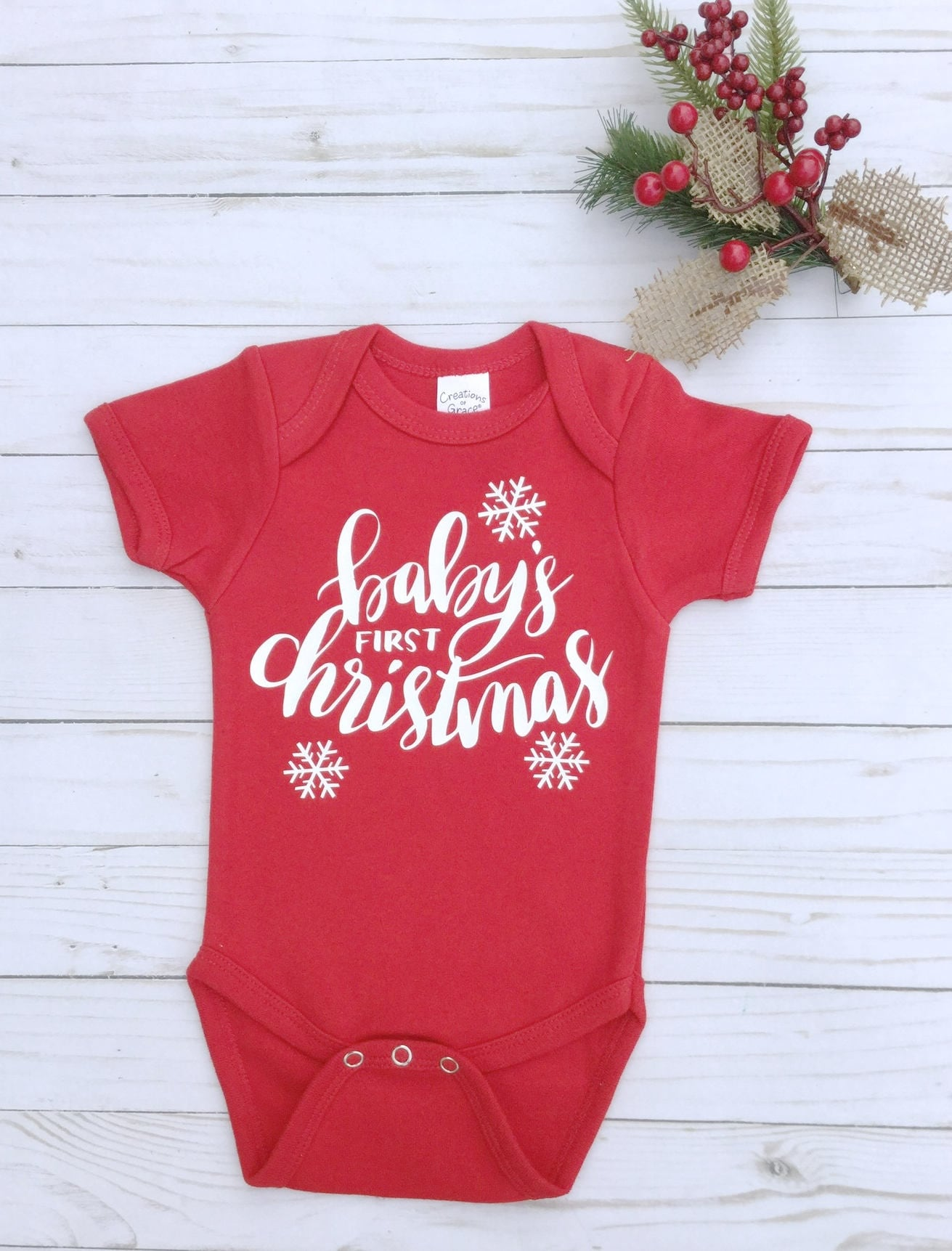 christmas onesiebabys first christmaschristmas pajamasbaby bodysuitholiday clothes for baby red onesiefree shipping