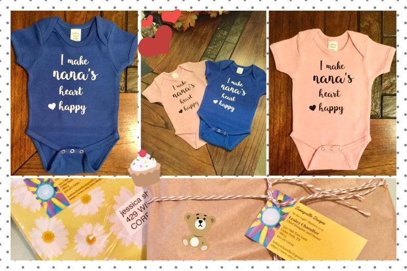 NanaBaby Girl Gift Baby Boy GiftBaby Shower GiftNana Baby ClothesGender Neutral GiftGrandmotherNanaGigiYayaBaby Girl Clothes