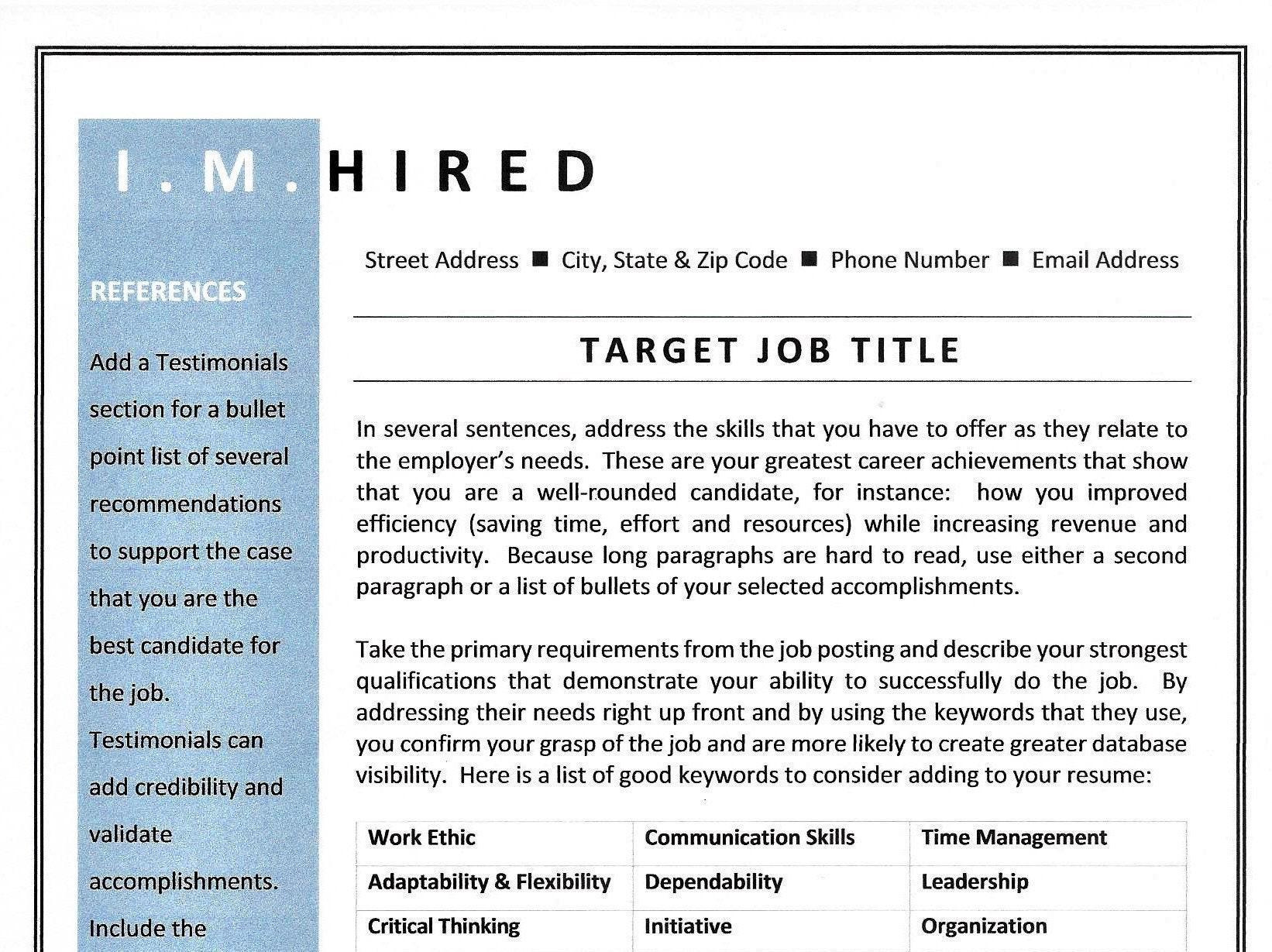 combination resume template sample