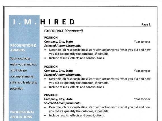 Sample Combination Resume | Combination Resume Template Sample