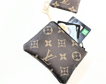 4269e452dc01 Upcycled LV coin purse - Repurposed Louis Vuitton - Louis Vuitton cards  holder - Louis Vuitton coin purse - cards holder - LV small wallet