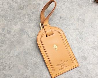 2790ffdfdc6c Louis Vuitton name tag gold ballon stamp - LV luggage ballon Tag - vachetta luggage  tag - LV luggage id name tag - LV travel ballon stamp