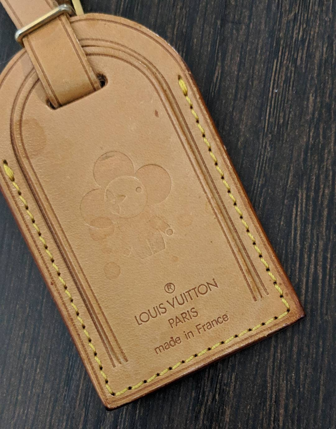 a61b686ba8ce Louis Vuitton name tag vivienne stamp - LV luggage Tag vivienne - vachetta  luggage tag - Lv luggage id tag - Lv travel tag - Lv vivienne
