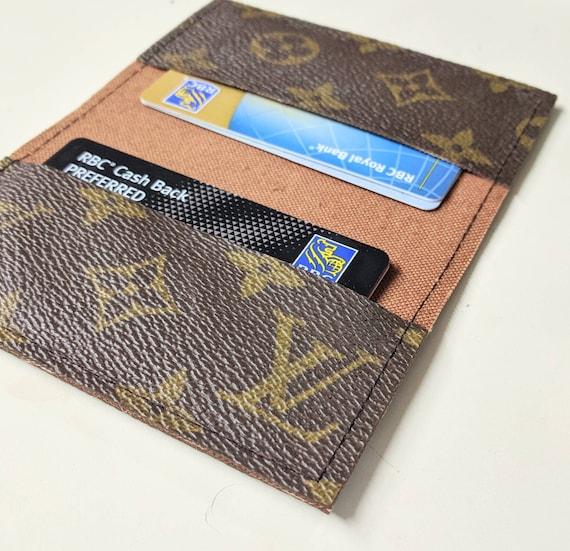 Lv business card holder repurposedlouis vuitton small etsy image 0 colourmoves
