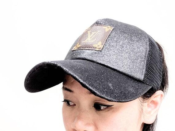 Louis Vuitton ponytail cap Upcycled Lv ponytail hat Louis  d1f741ec2d4