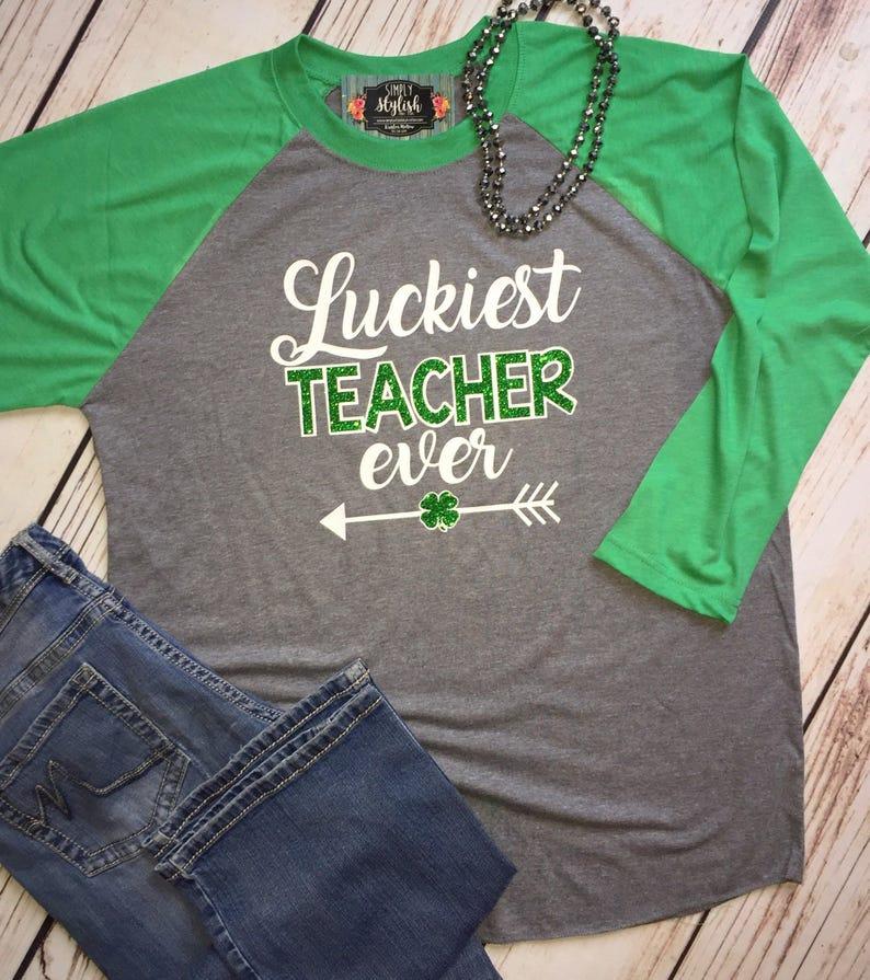 7bb636c1 Teacher St. Patrick's day shirt St. Patrick's day | Etsy