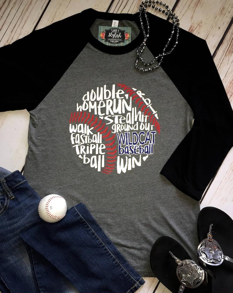 20f72ef83bf25d Baseball T-Shirt Raglan Baseball Team Shirt Baseball Mom | Etsy