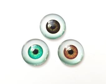 4e5a39a48d4 20mm - 3 x Cabochon Eyes - Eye Flatbacks - Multicolour Eyes - Glass Eyes -  Artdoll Eyes - Doll Eyes - Monster Eyes - Creature Eyes