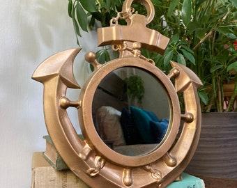 Gold anchor mirror