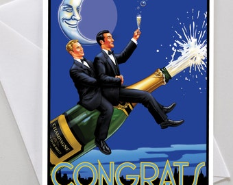 Gay Congratulations Wedding Engagement Card