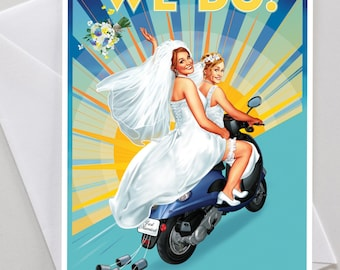 Gay and Lesbian Congratulations Wedding Engagement Card