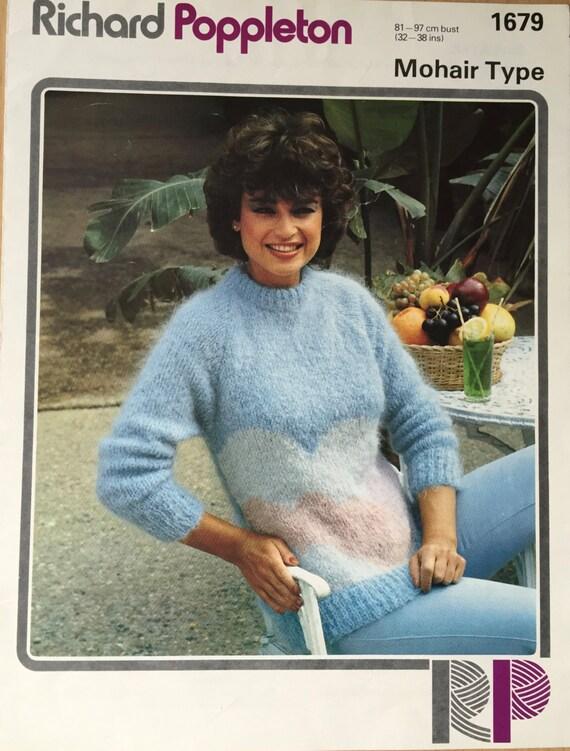 Damen Wolke Pullover stricken Jahrgang Strickmuster | Etsy