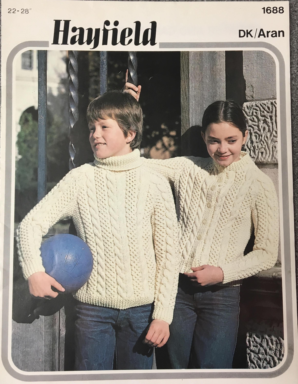 Childrens Knitting Pattern, Hayfield Knitting Pattern, Childrens ...