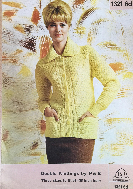 68e0d2d6b91344 Ladies Collared Jacket Knitting Pattern
