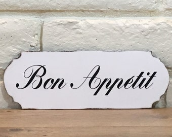 Delightful Bon Appetit Wooden Sign, Kitchen Sign, French Country Decor, Bon Appetit  Sign,