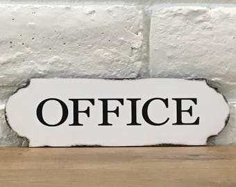 Office Sign, Wood Office Sign, Home Office Decor, Shabby Chic Office Decor,  Office Door Sign, Office Wall Decor, Office Wall Sign, Gift