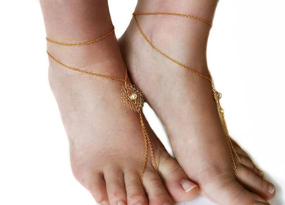 2970c67e4bd42 Barefoot sandals beach sandals crochet sandals wedding
