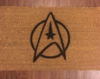 Star Fleet Insignia (Star Trek) Inspired Decorative Doormat