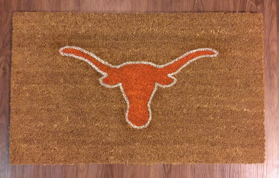 University Of Texas Longhorns Decorative Doormat Etsy