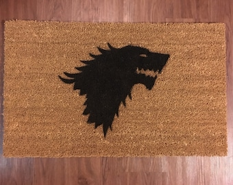 House Stark (Game of Thrones) Inspired Decorative Doormat