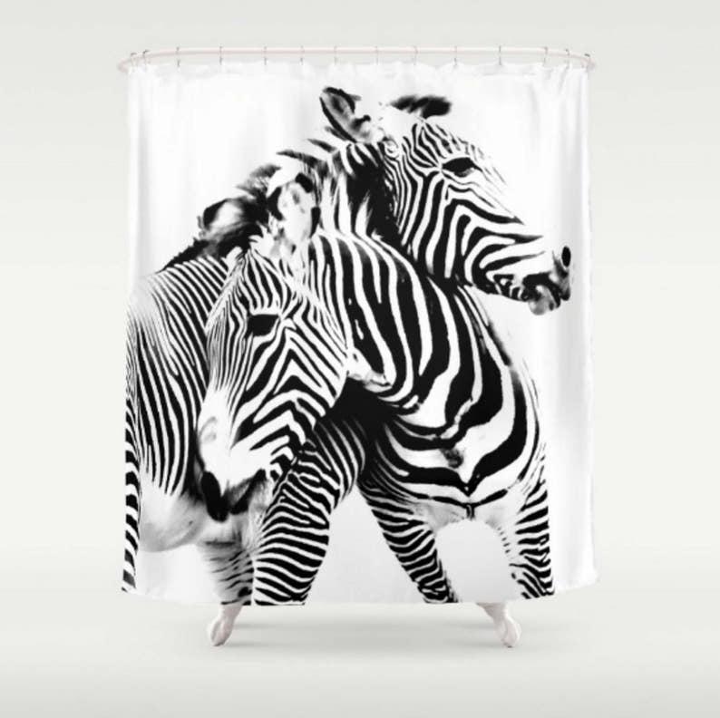 Black And White Shower Curtain Zebra