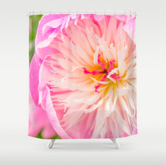 Pink Peony Shower Curtain Pink Shower Curtain Floral Shower