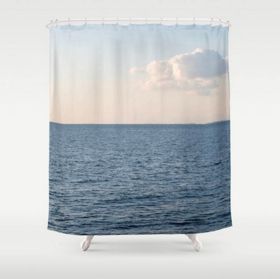 Blue Shower Curtain White Cloud And
