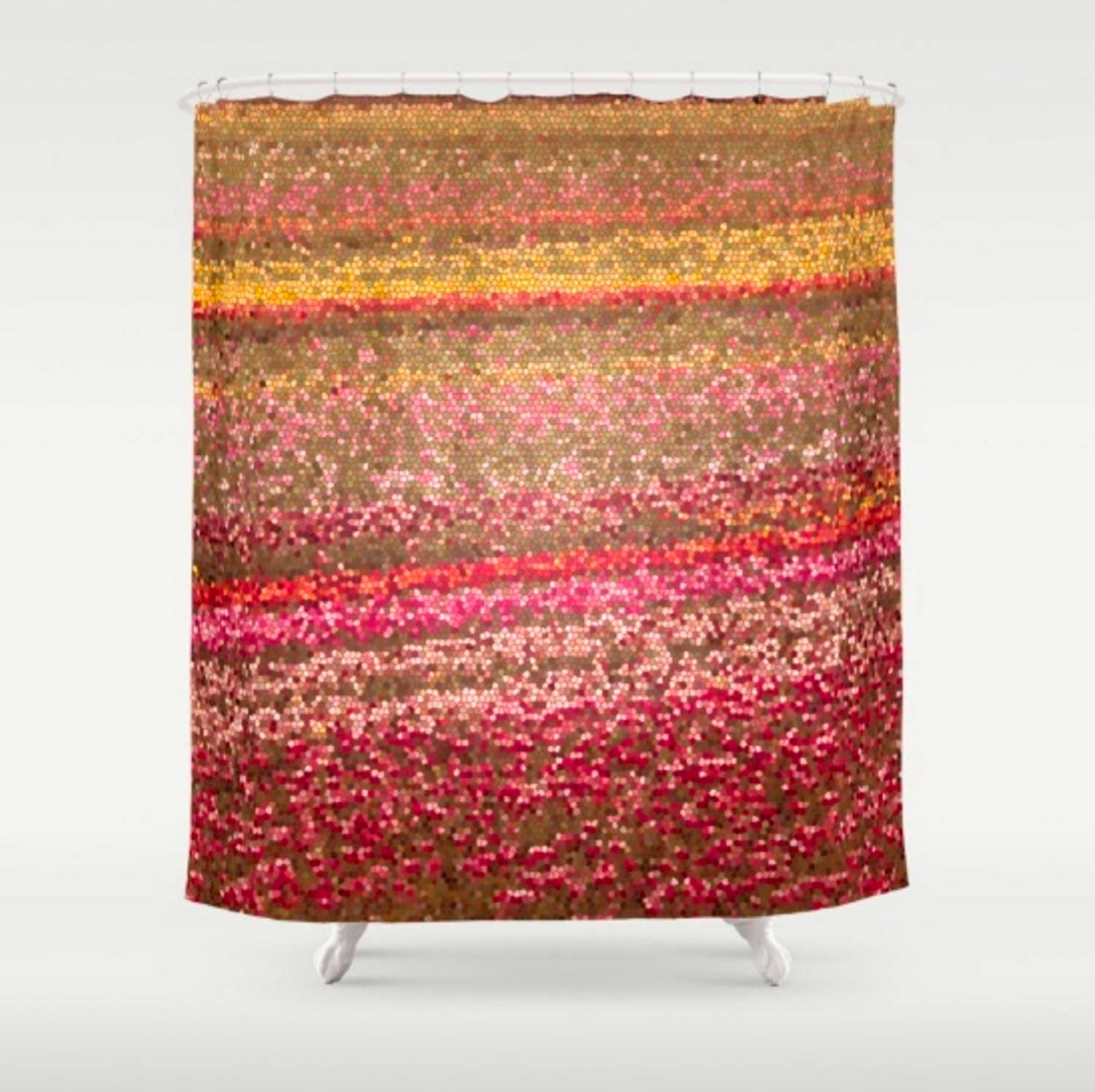 Colorful Shower Curtain Abstract Shower Curtain Red Orange