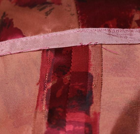 Vintage 1950's satin watercolor rose print dress - image 10